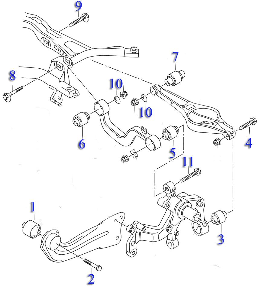 задняя подвеска шкода октавия а5 схема